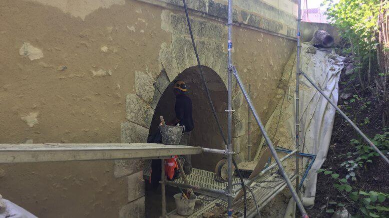 Nettoyage - Remise à neuf de la façade du pont
