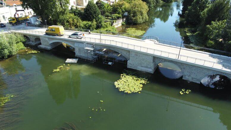 Rejointoiement des maçonneries du pont Joubert - Poitiers (Vienne 86)
