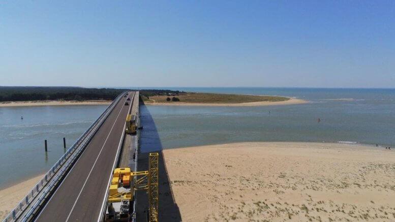Réparation des épaufrures - Pont de Noirmoutiers (Vendée 85)