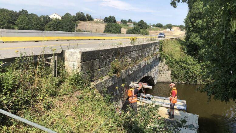 Forages pour enserrement - Pont du Gaudron - Maché (85)