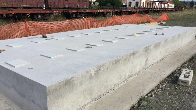 Préfabrication foraine d'un tablier de pont rail